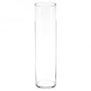 jarrón de cilindro transparente h60, transparente