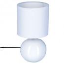 lámpara de bola blanca de cerámica h25, blanco