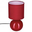 lámpara de cerámica bola roja h25, rojo