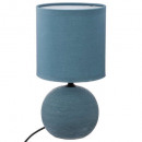 lampara ceramica bola strie bl h25, azul