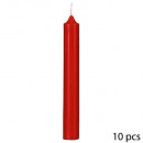 red btn candle 45g h16 x10, red