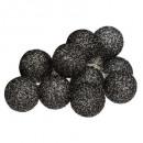girlande led pile 10boul noir pa d6, noir