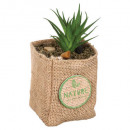 jute pot artificial plant h12.5, 4- times assorted