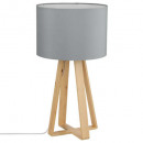 gray wood foot lamp h47.5, gray