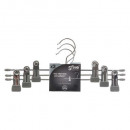 metal hanger pvc clamp metal x3, light gray