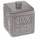 pot a coton 100% savon gris, gris moyen