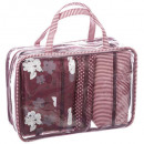wholesale Bags & Travel accessories: set 4 toilet sets decor 1, 3- times assorted , mul