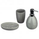 bathroom accessories x 3 sun gray, gray
