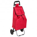 red watercolor trolley, red