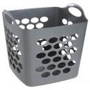cesto de la ropa 33l gris, marrón topo