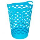 Großhandel Wäsche: Wäschekorb 60l türkis, blau