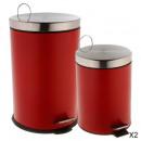 prullenbak 20l + 5l rood, groen