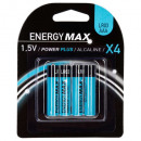 grossiste Batteries et piles: piles power plus lr03 x4, bleu foncé