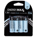 voedingsbatterijen plus lr06 x4, lichtblauw