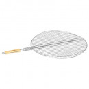 grille barbecue ronde 50cm chrome