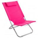 silla de playa caparica rosa, rosa