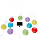 wholesale Light Garlands: solar 10lamp 4m multi, multicolored guirl