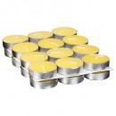 bougie chauffe-plat x24 citronnelle, jaune