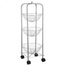 tightens 3 baskets round chrome, gray