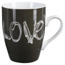 mug ronde love 34cl, 3-fois assorti, multicolore