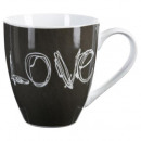 mug ronde love 51cl, 3-fois assorti, multicolore