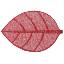 set table leaf 50x33 red