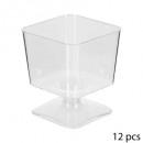x12 vierkante plastic verrine 6cl
