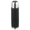 wholesale Thermos jugs: 0.5l black insulated bottle, medium gray