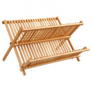 folding bamboo drip tray, colorless