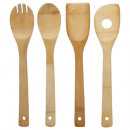 wholesale Kitchen Gadgets: bamboo utensil x4, colorless