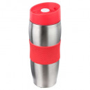 mug iso dbl wall red 38cl, medium gray
