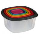 boite plast carre x7 colors, multicolore