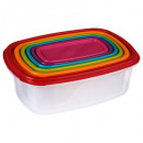 boite plast rectangle x6 colors, 6-fois assorti, m