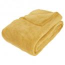 ocher microfiber blanket 180x230, ocher yellow