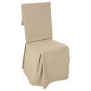 cubierta de la silla de lino, beige