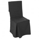 dark gray chair cover, dark gray