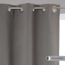rideau occultant gris 135x240 x2, gris