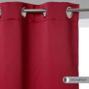 red blackout curtain 135x240 x2, red