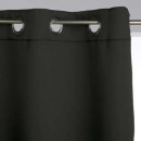 cortina opaca negra 135x240 x2, negra