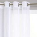 Blanco transparente de rayas 140x240, blanco