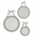 round ribbon mirror x3, 3- times assorted , ass co