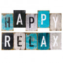 printed canvas happy / relax 26x75, 2- times assor