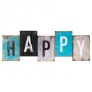 toile imprimée happy / relax 26x75, 2-fois assorti