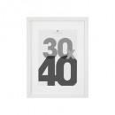 Marco de fotos blanco de 30x40, blanco
