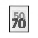 50x70 schwarzer Bilderrahmen, schwarz