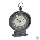metal pendulum clock 31.5x45, gray