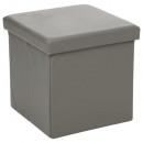 puf plegable pvc gris, gris