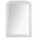 miroir arrondi blanche adele74x104, blanc