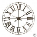 Vintage brown metal clock d90, brown