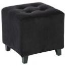 black velvet pouf leandre, black